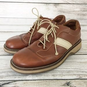 Johnston & Murphy Lace Up Two Tone Leather Shoes